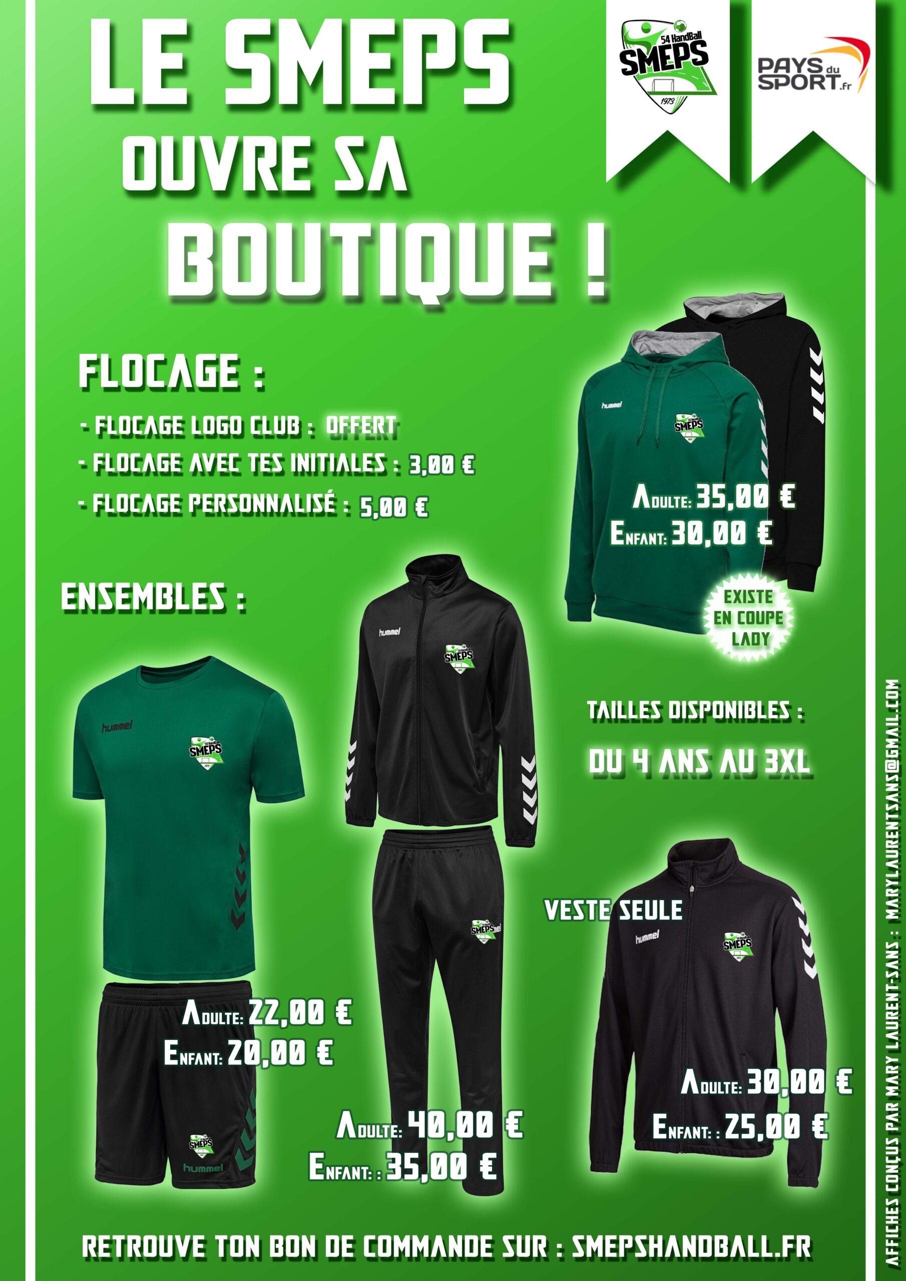 Articles de la boutique du SMEPS Handball-Page 1