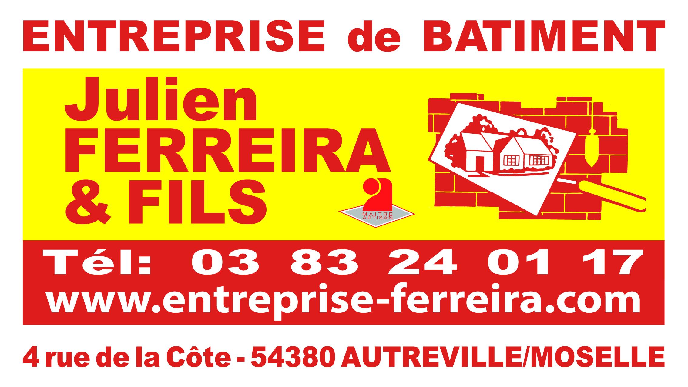 Entreprise de bâtiment Julien FERREIRA & Fils, sponsors du SMEPS